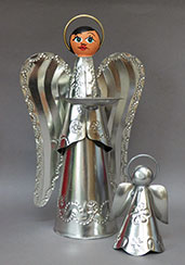 Tin Angel Candle Holder (bell not included)