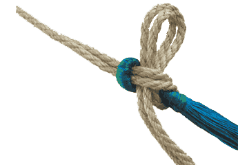use rope with your hammock - click here to visit the fixings page!