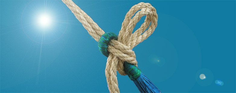 how to make a hanging knot