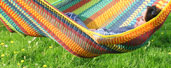 Multicoloured Chacmool handmade hammock